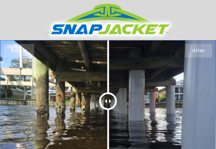 SnapJacket Installation - Piling
