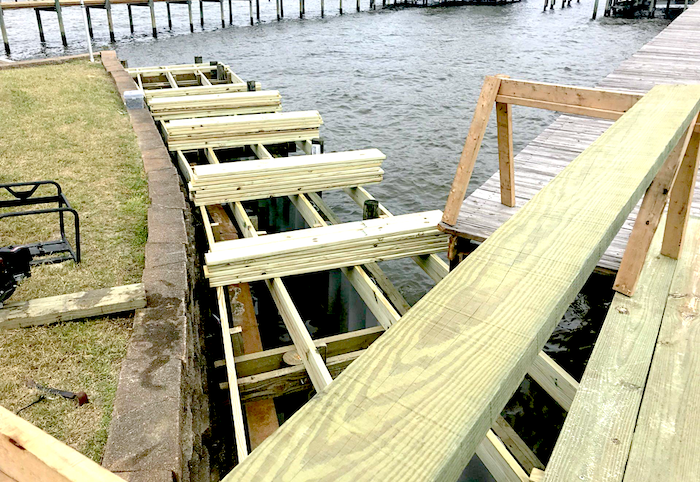 Seawall Backfill Installation - Webb's Hardware & Marine Services